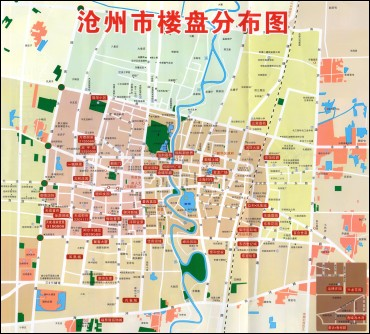 (点击图片下载地图大图)-2011年沧州市楼盘分布图 沧州资讯 沧州博